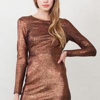 Copper Tone Dress*