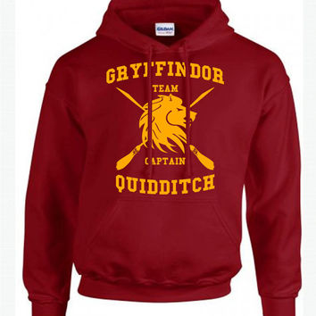 Harry Potter Hoodie - Gryffindor Quidditch Hoodie - Customized Gryffindor Hoodie - Hogwarts Clothes - Men's - Women's