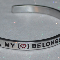 My Heart Belongs To A Firefighter  |  Engraved Handmade Bracelet by: Say It and Wear It Jewelry