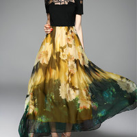 Multicolor Bow Casual Maxi Dress - StyleWe.com