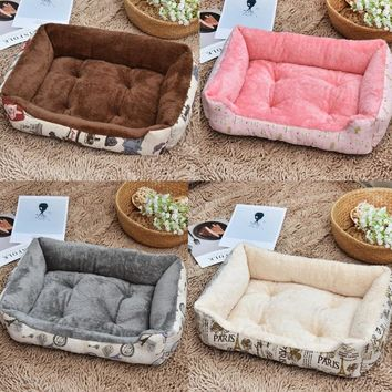 Plus Size Fashion Cat Beds Warm Soft Fleece Bed Sofa For Small Large Cats Kennel Pet Kitten Dog House Products