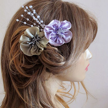 Wedding Flower Hair Comb, hair accessories, Bridesmaid Gifts, weddings, hair clip, bridal Flower hair Comb, Hair Flower, Hair Accessory