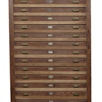 | Furniture | Argentina Heart Pine Multi-Drawer Flat File
