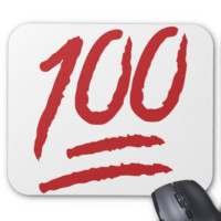 Hundred Points Symbol Emoji Mousepad