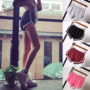 HOT New Summer Women Ladies Sexy Fitness Slim  Shorts Fashion Casual Cotton   Workout short femme Cheap