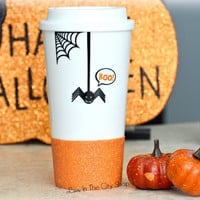 Halloween Spider Travel Mug / Scary Spider Mug