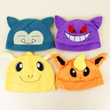 11 Styles Kawaii Anime Snorlax Dragonite EEVEE Gengar Mew Adults and children Hip Hop Plush Stuffed Toys Dolls