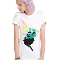 Disney Peter Pan Sky Scene Girls T-Shirt