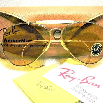 Ray-Ban USA Vintage *NOS 70s B&L Aviator *Ambermatic Outdoorsman *New Sunglasses