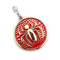Lottory Pendant Necklace Iron Man/Spider-Man/Captain America/Superman/X-Men/Batman/Harry Potter/The Hunger Games (Gold/Red DM698)