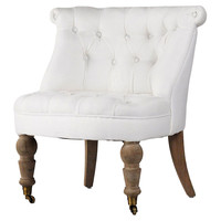 Cassia Accent Chair, White, Accent & Occasional Chairs