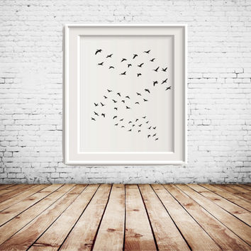 Flying Birds Printable Art, Art, Art Printable, wall decor, gallery wall decoration, home decoration