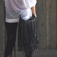Fringe Purse - Black