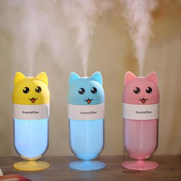 Cute Fox Bear Air Humidifier Aromatherapy Diffuser for Home Appliances 120ML Ultrasonic Aroma Essential Oil Diffuser with Lamp
