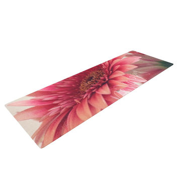 "Robin Dickinson ""Be Happy"" Pink Floral Yoga Mat"