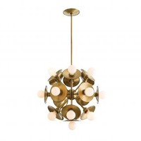 Gold Disk Sphere Chandelier | Pieces