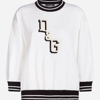 Cotton Sweatshirt With Patch - Women | Dolce&Gabbana