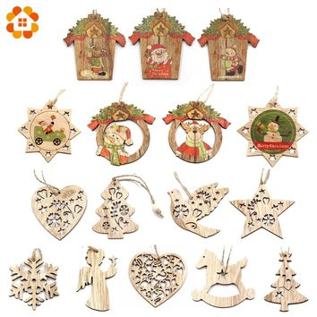 Apparel Sewing & Fabric Objective 50pcs Christmas Holiday Wooden Collection Snowflakes Buttons Snowflakes Embellishments 18mm Creative Decoration Arts,crafts & Sewing