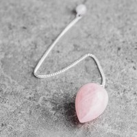 Rose Quartz Teardrop Pendulum