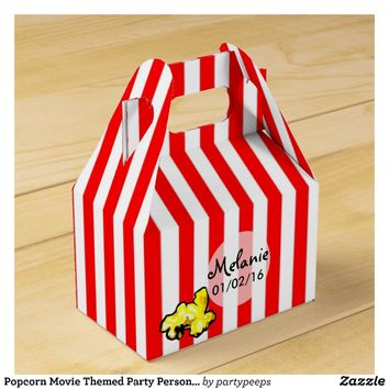 Popcorn Movie Themed Party Personalized Favor Box