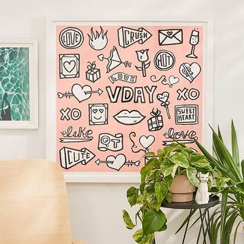 Timothy Goodman V Day Art Print | Urban Outfitters