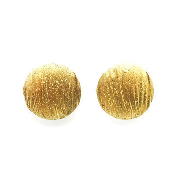 Bright Side of the Sun, Gold-plated Silver Earrings