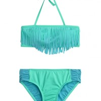 OMBRE FRINGE BIKINI SWIMSUIT | GIRLS BIKINIS SWIMSUITS | SHOP JUSTICE