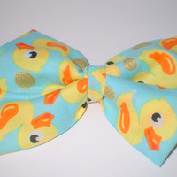 Yellow,Orange Duck Print Handmade Hair Bow Hair Accessory Hair Clip