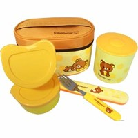 Rilakkuma Stainless Thermal Bento Box Set