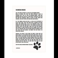 Rainbow Bridge Poem #inspirational #pet #love by Andrea Anderegg Photography