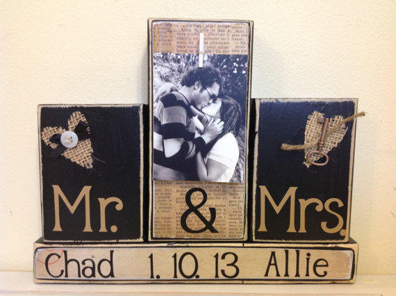 Personalized Wedding Gift Mr And Mrs From FayesAttic11 On Etsy