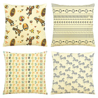 Tribal Style-100% Cotton Decorative Throw Pillows Cover Cushion Case VPLC_03