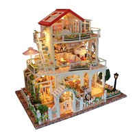 Hoomeda Be Enduring As The Universe DIY Dollhouse With Music, Lights, and Cover Miniature Model