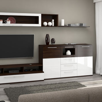 High Quality Living Room Furniture Set ''Ambiente'' including: TV stand Set, Display Unit