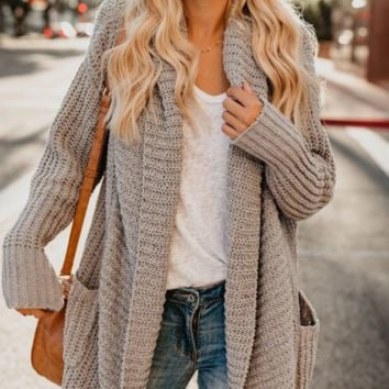 New loose mid-length cardigan large size sweater