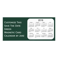 2016 Green Calendar by Janz 9x4 Magnet Magnetic Invitations