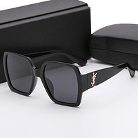 YSL Yves Saint Laurent Trending Ladies Men Casual Sun Shades Eyeglasses Glasses Sunglasses Black I12382-1