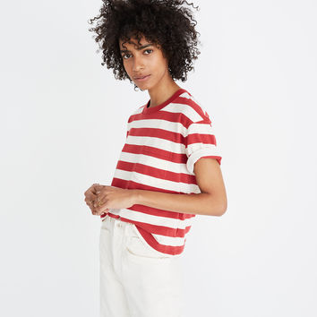 Easy Crop Tee in Murph Stripe : shopmadewell short-sleeve tees | Madewell