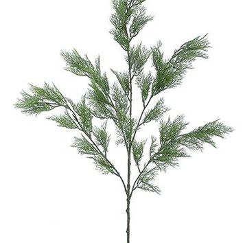 "Artificial Winter Greens Cedar Branch - 42"" Tall"