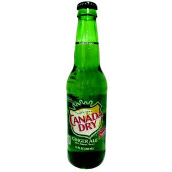 Canada Dry Glass Bottle Ginger Ale