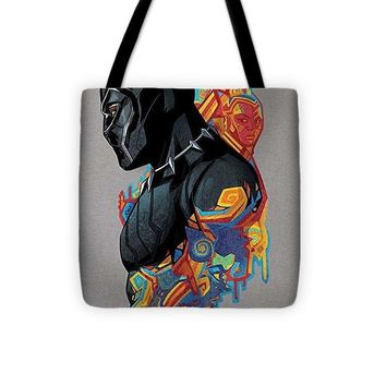 Marvel Black Panther Colorful Geo Pattern Profile - Tote Bag