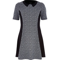 River Island Womens Grey marl panelled A-line dress