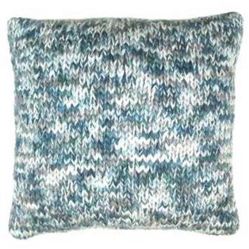 "Marled Knit Pillow Blue (18""x18"") - Threshold™"