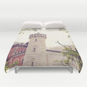 Art Duvet Cover Queen of Your Castle photography home decor photograph grey gray Ethereal light photo Germany German Renaissance queen king