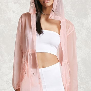 Sheer Hooded Windbreaker