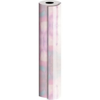 Bulk Ream Roll Solid Gift Wrap Wrapping Paper, Iridescent Laminated