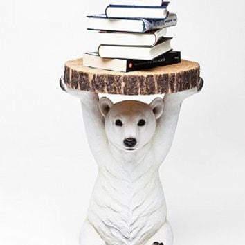 Kare Polar Bear Side Table - Urban Outfitters