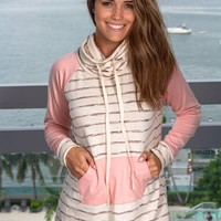 Oatmeal Striped Pullover