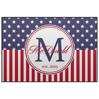 Stars and Stipes Personalized Door Mat -  4th of July Welcome Mat, Entrance Mat 3 sizes