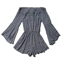 Abercrombie & Fitch Patterned Off The Shoulder Romper